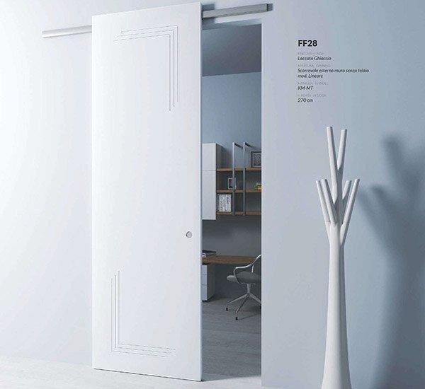 Porte tamburato interne sololegno scorrevole esterno muro
