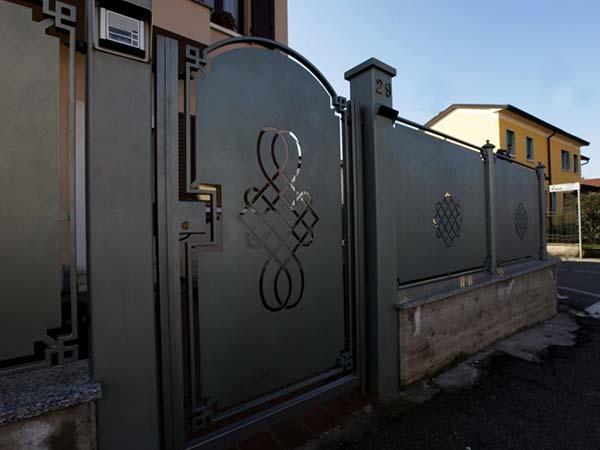 opere in ferro battuto recinzione