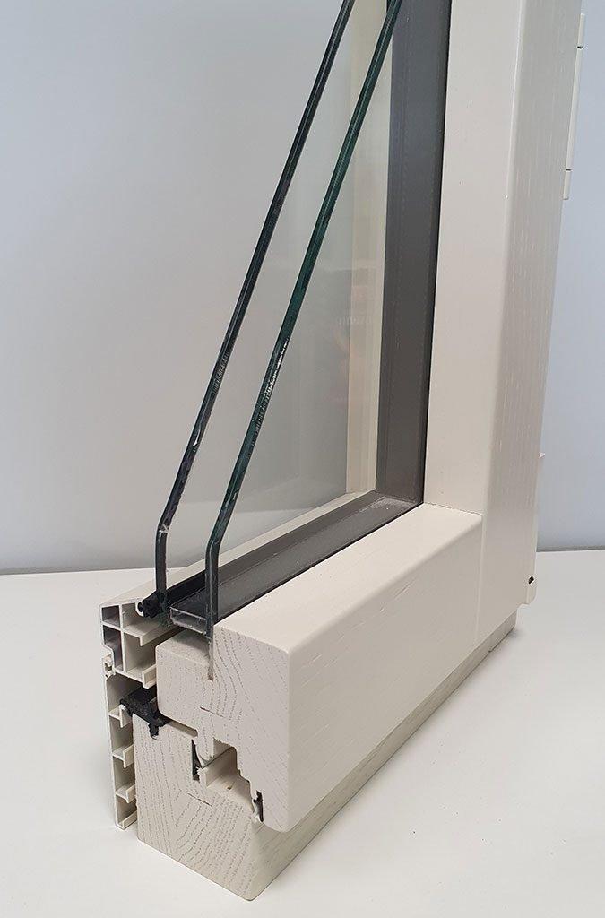 serramenti alluminio legno abete laccato alluminio bianco